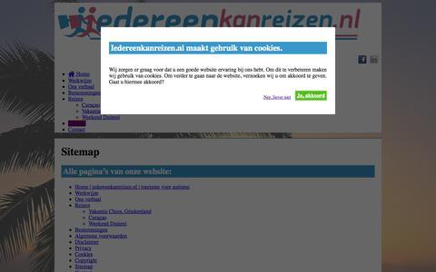 Screenshot of Site Map Page iedereenkanreizen.nl - Sitemap   iedereenkanreizen.nl - captured Oct. 27, 2014