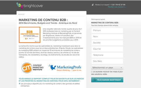 Screenshot of Landing Page brightcove.com - Brightcove | Marketing de contenu B2B - captured May 11, 2016