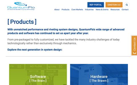 Screenshot of Products Page quantumflo.com - Products | QuantumFlo - captured May 21, 2017