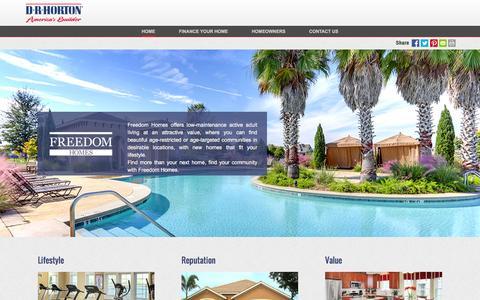 Screenshot of drhorton.com - Freedom Homes | Active Adults - captured Dec. 9, 2016