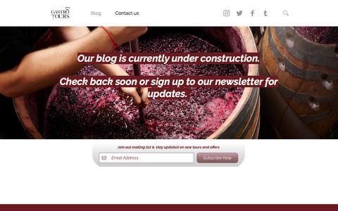 Screenshot of Blog gastro-tours.com - Gastro Tours | Food & Wine Travel | Blog - captured July 16, 2018