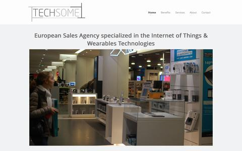 Screenshot of Home Page techsome.eu - Home - Sales Agency specialized in the IoT & Wearable Tech - Techsome - captured Sept. 30, 2014