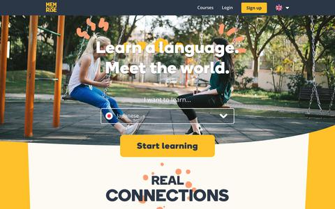 Screenshot of Home Page memrise.com - Memrise - Learning, made joyful - captured April 10, 2019