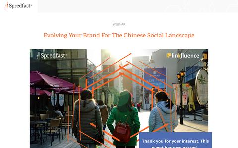 Screenshot of Landing Page spredfast.com - Spredfast - captured July 17, 2017