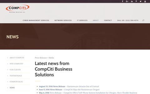 Screenshot of Press Page compciti.com - NEWS - captured Aug. 13, 2017