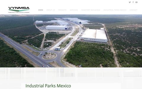 Screenshot of Home Page industrialparksmexico.com.mx - Industrial Parks Mexico - VYNMSA - Mexico Industrial Parks - captured Oct. 26, 2017