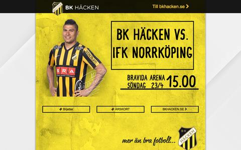 Screenshot of Home Page bkhacken.se - BK Häcken - Hisingens Stolthet - captured April 24, 2017