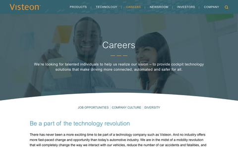Screenshot of Jobs Page visteon.com - Visteon | Careers - captured Feb. 17, 2019