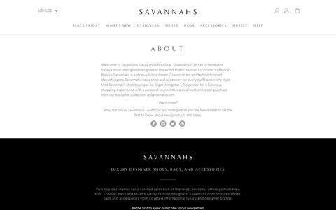Screenshot of About Page savannahs.com - About Us | Shop Online at SAVANNAHS.com - captured Nov. 23, 2017