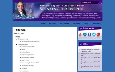 Screenshot of Site Map Page talkmantalk.com - Sitemap - Talk Man Talk :Talk Man Talk - captured Oct. 9, 2014