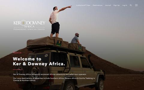 Screenshot of About Page ker-downeyafrica.com - About Us: Meet The Team | Ker & Downey Africa - captured Oct. 17, 2017