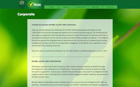 Screenshot of Site Map Page vitax.co.uk - Corporate | Vitax - captured Oct. 7, 2014
