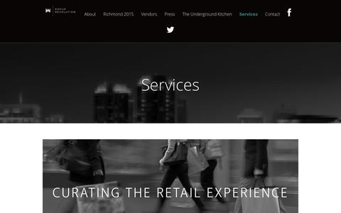 Screenshot of Services Page popup-revolution.com - Services - captured March 6, 2016