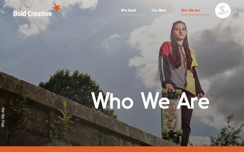 Screenshot of Team Page boldcreative.co.uk - Bold Creative - Home - captured Aug. 3, 2018
