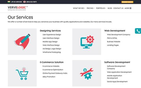 Screenshot of Services Page vervelogic.com - Verve Logic   Services - captured Aug. 12, 2016