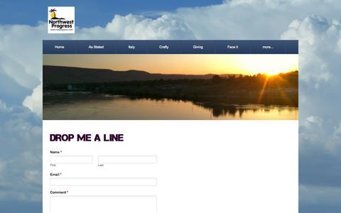 Screenshot of Contact Page nwprogress.com - Contact - Northwest Progress - captured Oct. 26, 2014