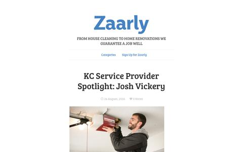 Screenshot of Blog zaarly.com - Discover and Hire the Best Home Experts - Zaarly - captured Aug. 25, 2016