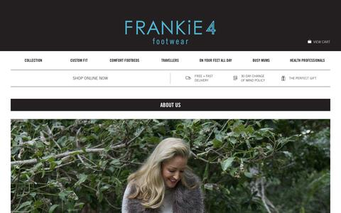 Screenshot of About Page frankie4.com.au - About Us | FRANKiE4 Footwear - captured Oct. 6, 2014