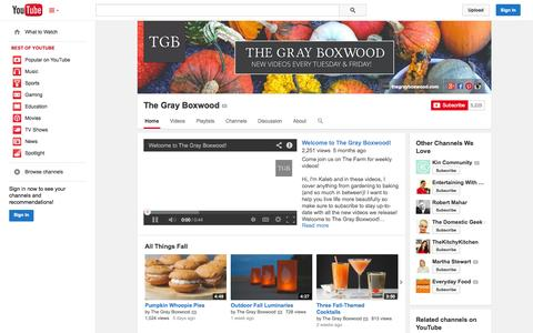 Screenshot of YouTube Page youtube.com - The Gray Boxwood  - YouTube - captured Oct. 26, 2014