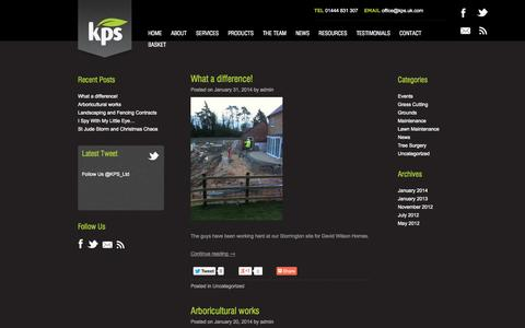 Screenshot of Press Page kps.uk.com - Latest News and Events | KPS Composting and Contractors - captured Oct. 6, 2014