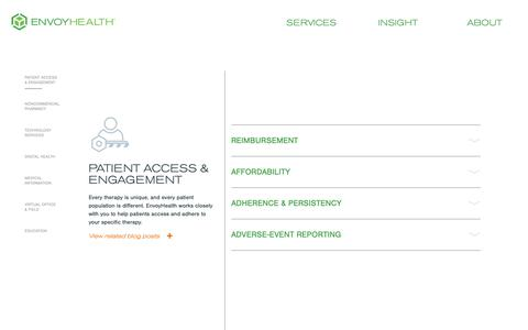 Screenshot of Services Page diplomat.is - Patient Access & Engagement - EnvoyHealth - captured Oct. 18, 2018