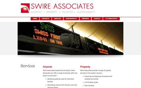 Screenshot of Services Page swireassociates.co.uk - Swire Associates Services - captured Oct. 7, 2014