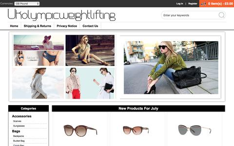 Screenshot of Home Page ukolympicweightlifting.co.uk - Womens Cheap Brand Clothes,Bags & Accessories Sale Online | Save Up To 50% Off! - captured July 25, 2018