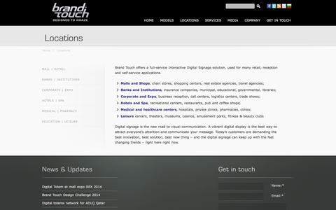 Screenshot of Locations Page brand-touch.eu - Locations | Brand Touch - captured Sept. 30, 2014