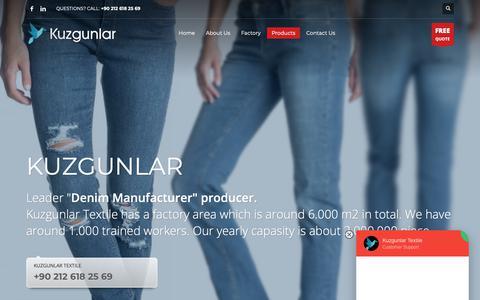 Screenshot of Products Page kuzgunlar.com.tr - Ladies Jeans Manufacturers, Womens Denim Jeans - Kuzgunlar Textile - captured Oct. 16, 2018