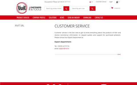 Screenshot of Support Page rivit.it - Contact Rivit' customer care for any question - captured Oct. 18, 2018