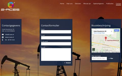 Screenshot of Contact Page 2-aces.nl - Contactgegevens | 2-ACES 2-ACES - captured Oct. 27, 2014