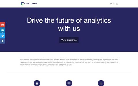 Screenshot of Jobs Page contiamo.com - Openings at Contiamo - captured May 20, 2017