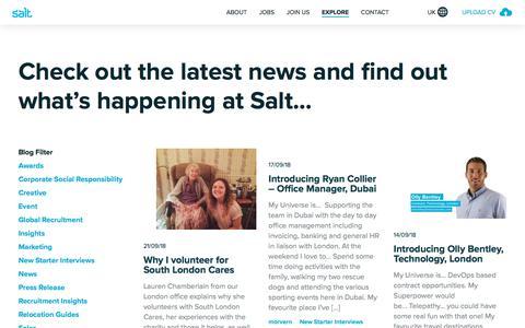 Screenshot of Press Page welovesalt.com - Latest Company News & Updates | Salt - captured Sept. 23, 2018