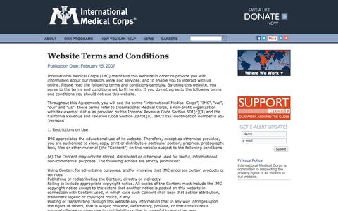 Screenshot of Terms Page internationalmedicalcorps.org - Financial Reports - International Medical Corps - captured Sept. 23, 2014