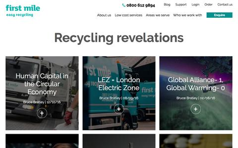 Screenshot of Blog thefirstmile.co.uk - Recycling revelations   First Mile - captured Oct. 20, 2016