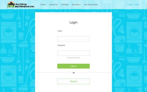 Screenshot of Login Page crystalwhitedrycleaners.com - Login - Key Building Maintainance Inc. - captured July 23, 2018