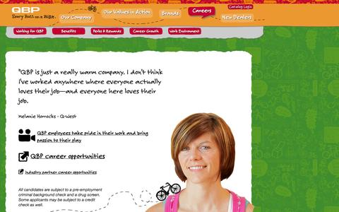 Screenshot of Jobs Page qbp.com - Quality Bicycle Products - captured Sept. 19, 2014