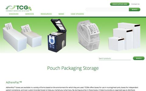 Pouch Packaging Storage | TCGRx