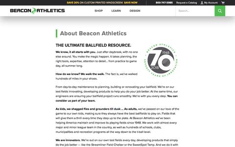Screenshot of About Page beaconathletics.com - About Beacon Athletics | Groundskeeper Essentials - captured Jan. 18, 2020
