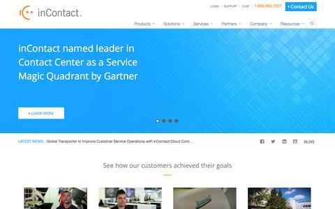 Screenshot of Home Page incontact.com - Call Center Software | Contact Center Solutions - inContact - captured Nov. 17, 2015