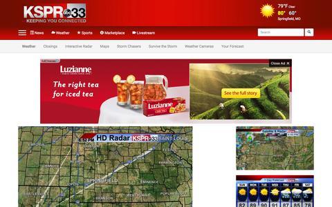 Screenshot of Maps & Directions Page kspr.com - Maps - captured Sept. 3, 2016