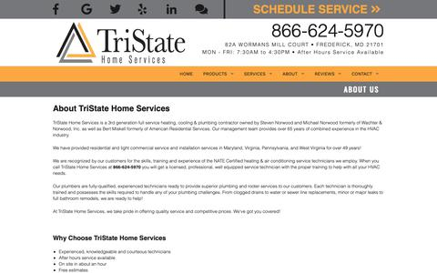 Screenshot of About Page tristatehomeservices.com - About Us - captured Nov. 19, 2018