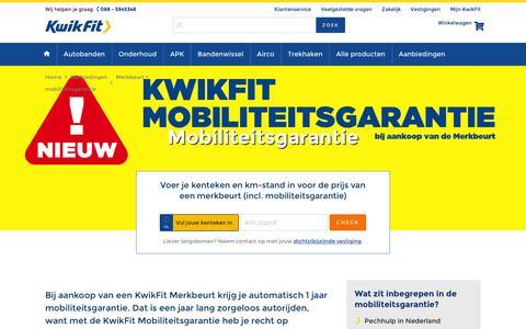 Screenshot of kwik-fit.nl - KwikFit Mobiliteitsgarantie - captured May 15, 2016