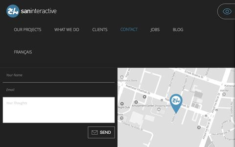 Screenshot of Contact Page san-i.co.il - Contact | San Interactive - captured Oct. 4, 2017