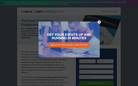 Screenshot of Landing Page cvent.com - Event Tech Study | Cvent AU - captured July 30, 2018