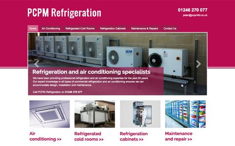 Screenshot of Home Page pcpmltd.co.uk - Refrigeration and air conditioning specialists with PCPM Refrigeration - captured Oct. 2, 2014