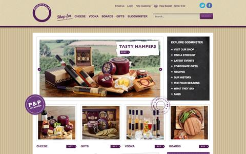 Screenshot of Home Page godminster.com - Godminster Vintage: Organic cheese suppliers cheddar cheeses - captured Sept. 23, 2014