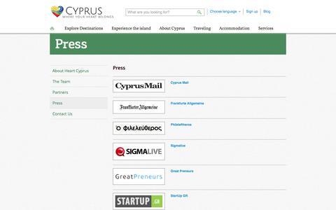 Screenshot of Press Page heartcyprus.com - Press - HeartCyprus - captured Sept. 25, 2014