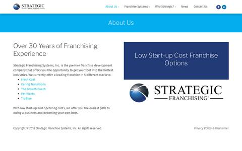 Screenshot of About Page strategicfranchising.com - About Us | Strategic Franchising - captured Oct. 20, 2018
