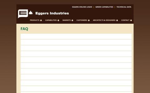 Screenshot of FAQ Page eggersindustries.com - FAQ - Eggers Industries - captured Dec. 7, 2015